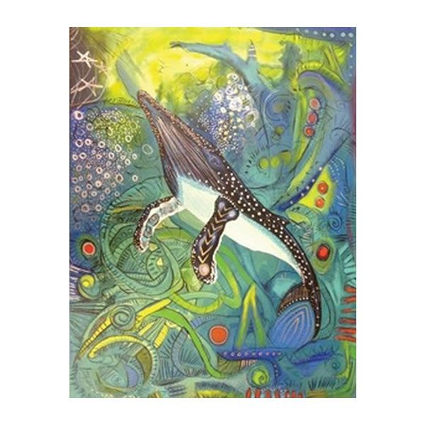 Alan Syliboy - Humpback Whale Journal - Hardcover Lined Notebook