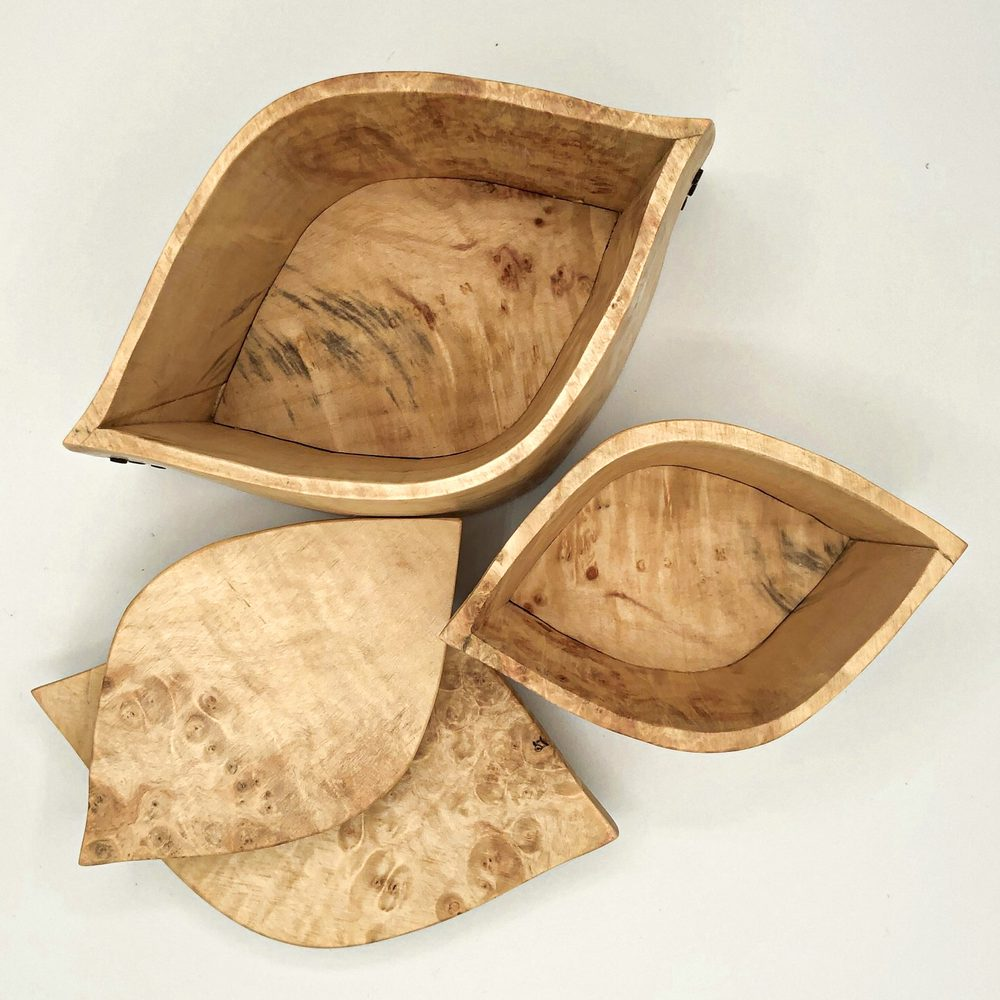 Ian MacDonald - Set of 3 pointed curve boxes