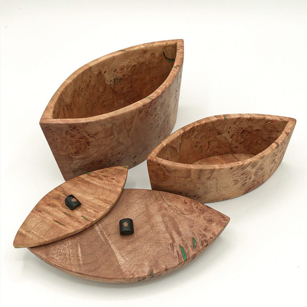 Ian MacDonald - Set of 2 pointed curve boxes