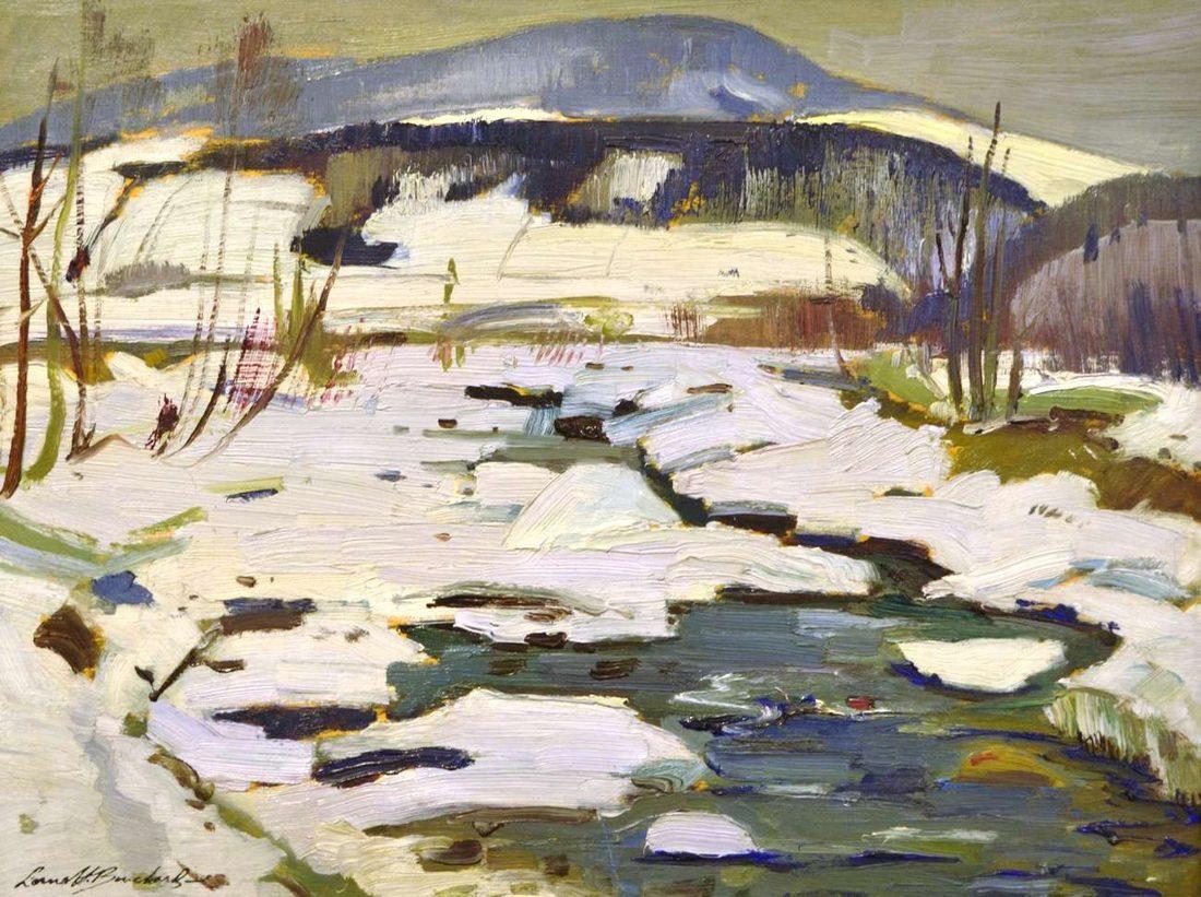 Lorne Holland Bouchard - Spring Stream, Baie St-Paul, Quebec, 1950