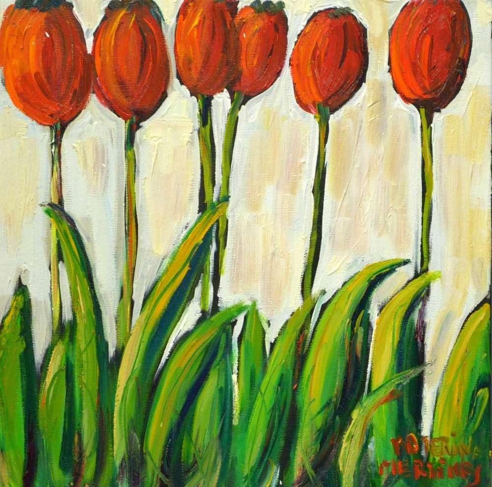 Katerina Mertikas - Tulips in a Row
