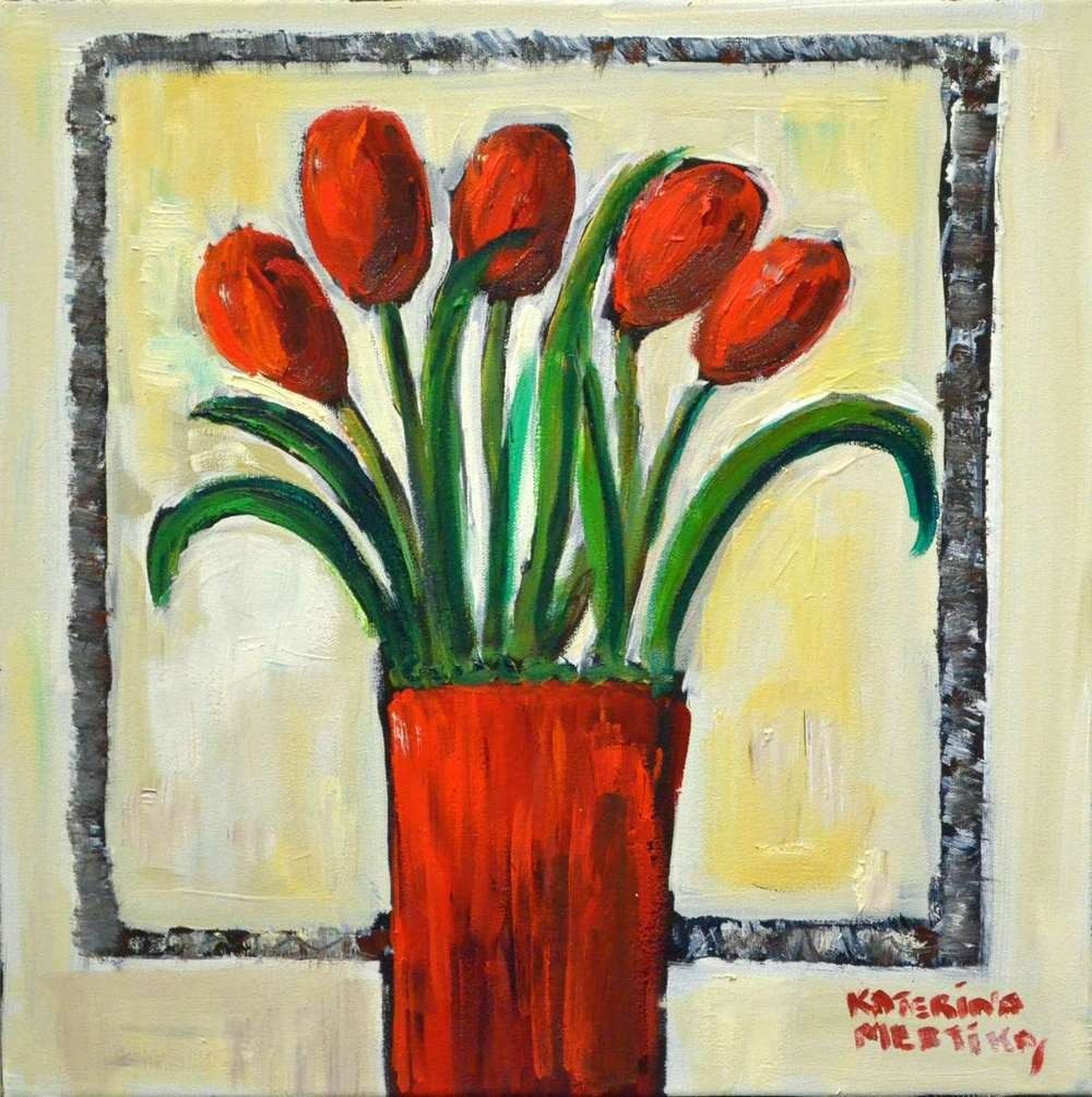 Katerina Mertikas - Vase & Tulips