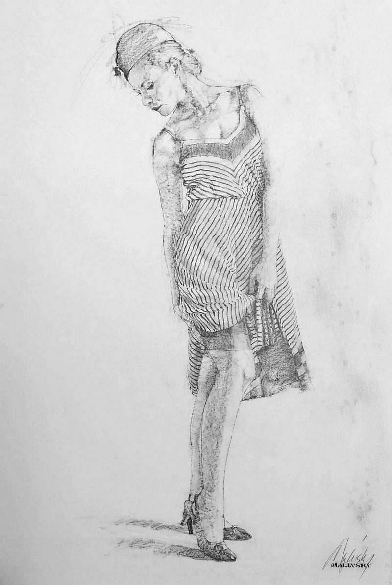Charles Malinsky - Study of a Woman