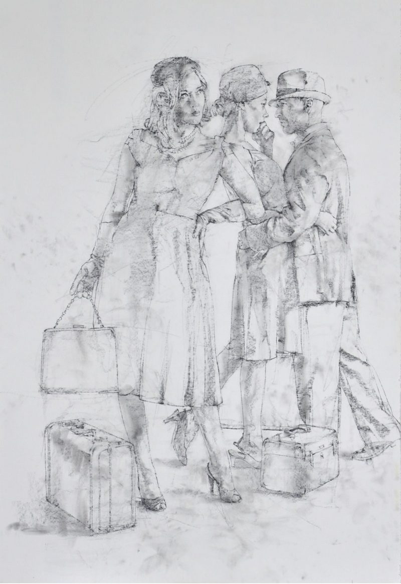 Charles Malinsky - Study for: The Uncertainty of Everyday Life is Found at the Bottom of Every Suitcase