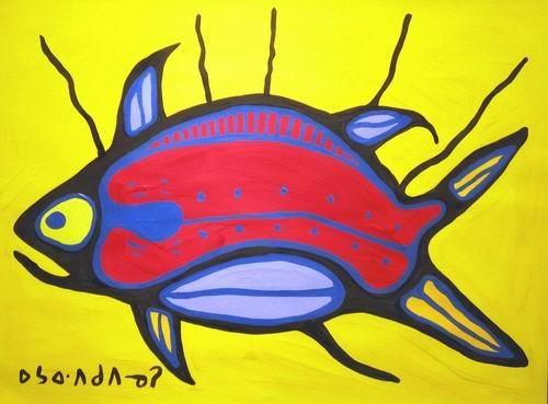 Norval Morrisseau - Mother Fish