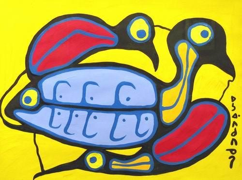 Norval Morrisseau - The Lake