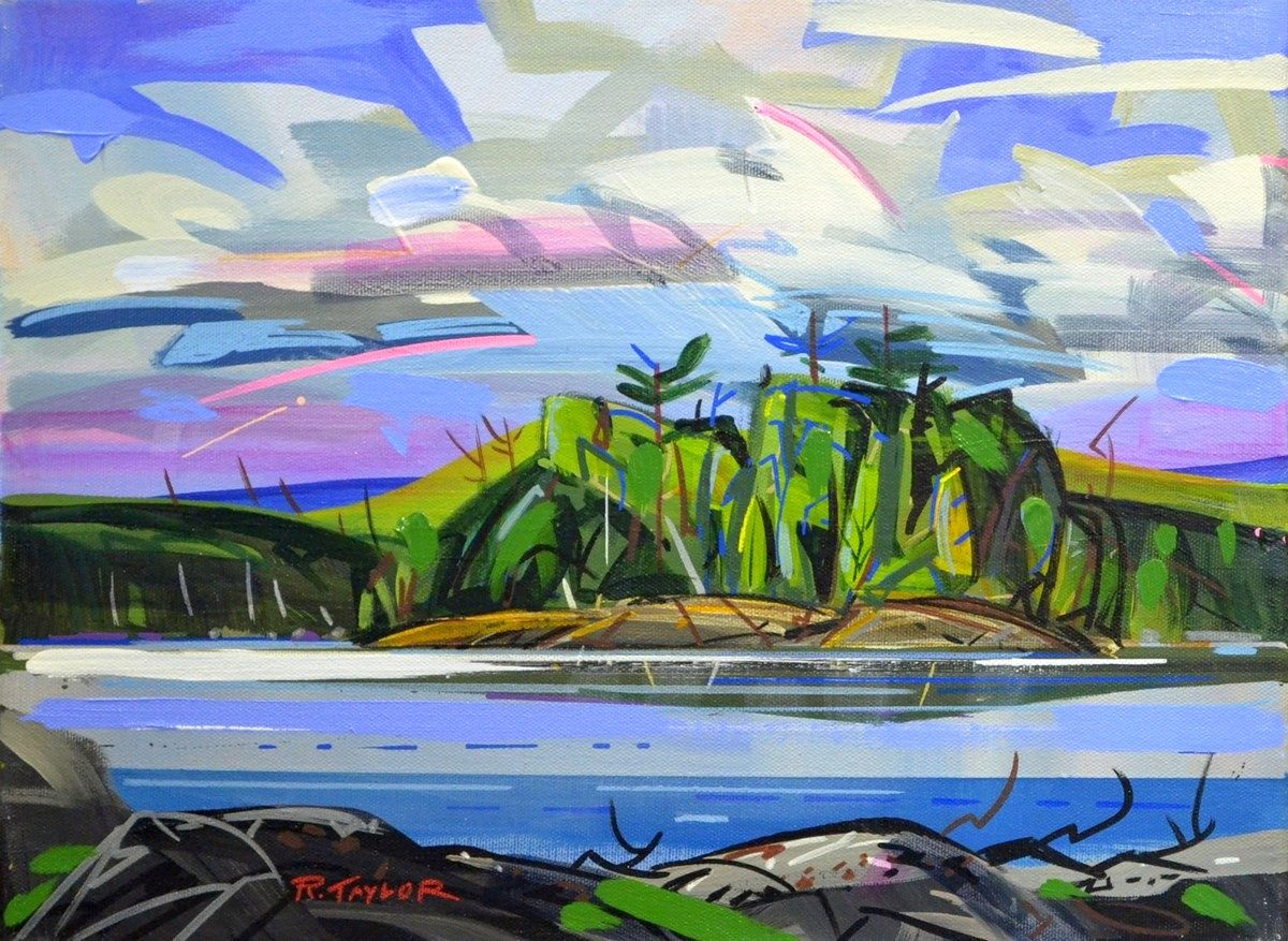 """Rick Taylor - North of Nowhere - 12""""x16"""" - RT0036c - Acrylic - $425 framed"""