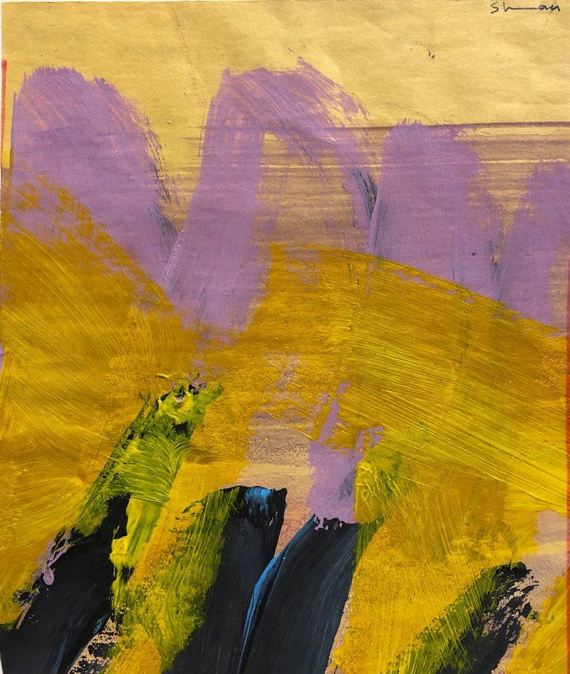 Shwan Dilorenzo - Purple & Yellow Abstract