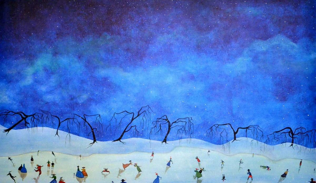 Toller Cranston - Winter Blues I