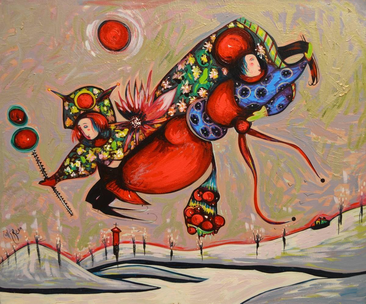 Toller Cranston - Untitled (Floating Figures)