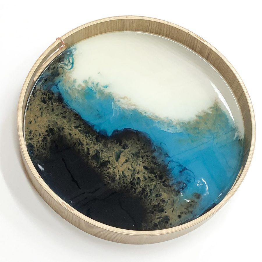 Neerja Trehan - bamboo tray w/ acrylic & resin