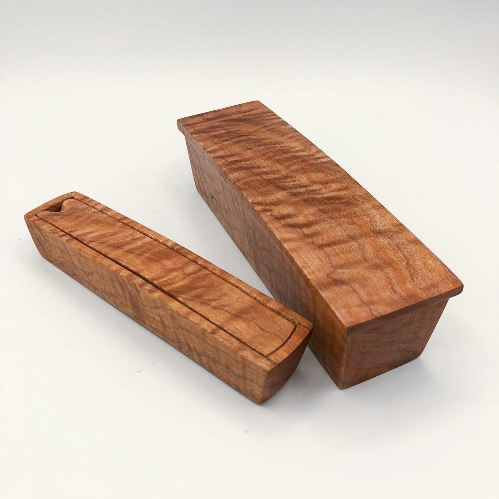 Ian MacDonald - Set of 2 boxes: figured maple - SOLD