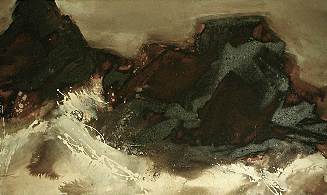 Lila Lewis Irving - Sea & Dark Rocks