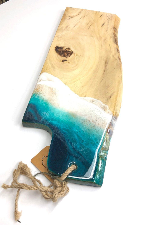 Neerja Trehan - Live Edge Cheese Board w/ Resin Detail